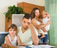 Родители при дети имея ссору Стоковая Фотография