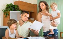 Родители при дети имея ссору Стоковое Фото