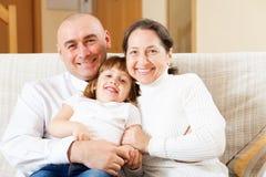 Родители с дочью Стоковые Изображения