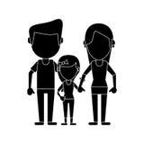 Родители с пиктограммой семьи daugther Стоковые Изображения RF