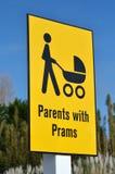 Родители с символом знака prams Стоковая Фотография RF