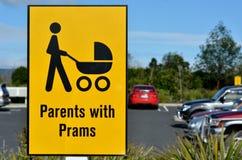 Родители с символом знака prams Стоковое Фото