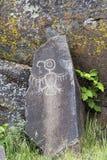 Родной индийский петроглиф буревестника Стоковое Фото