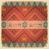 Родной этнический орнамент американского индейца Стоковое Изображение RF