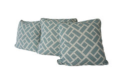 Родовая голубая изолированная подушка картины Стоковые Изображения