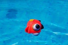 Родовая резиновая игрушка рыб в бассейне Стоковое Изображение RF