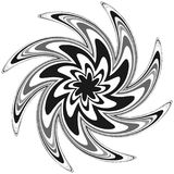 Родовое круговое motiff, мандала Абстрактная серая шкала геометрический e иллюстрация вектора