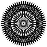 Родовое круговое motiff, мандала Абстрактная серая шкала геометрический e иллюстрация штока