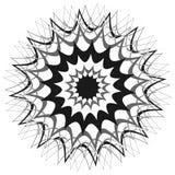 Родовое круговое motiff, мандала Абстрактная серая шкала геометрический e бесплатная иллюстрация