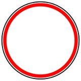 Родовой красный запрет, знак ограничения Дорожный знак с пустой иллюстрация вектора
