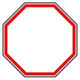 Родовой красный запрет, знак ограничения Дорожный знак с пустой иллюстрация штока