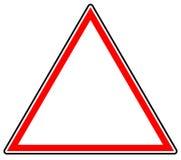 Родовой красный запрет, знак ограничения Дорожный знак с пустой Стоковое фото RF