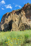 Родовые дома Пуэбло, национальный монумент Bandelier Стоковая Фотография