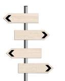 Родовые дорожные знаки, указатель, изолированный на белизне иллюстрация штока