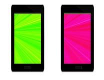Родовые приборы мобильного телефона - белая предпосылка Стоковое фото RF