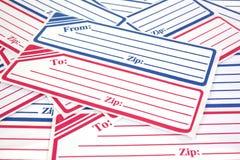 Родовые ярлыки почтовой отправки Стоковые Фото