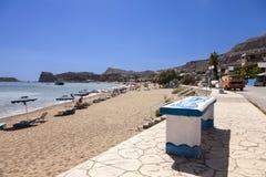 Родос Греция - пляж Stegna Стоковая Фотография RF