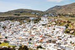 Родос - Lindos стоковое фото