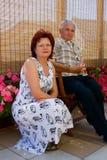 родственники старшие Стоковая Фотография