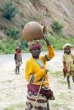 руандийская женщина стоковое изображение