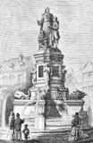 Руан, Франция, памятник Джин-Baptiste de Ла Salle стоковое фото