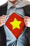 рубашка Вьетнам флага Стоковое Изображение