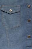 Рубашка голубых джинсов джинсовой ткани Стоковая Фотография