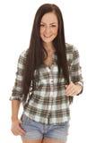 Рубашка и шорты шотландки стоковое изображение