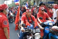 рубашка красного цвета протеста bangkok Стоковые Изображения RF