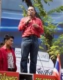 рубашка красного цвета протеста bangkok Стоковые Изображения
