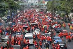 рубашка красного цвета протеста bangkok Стоковые Фото