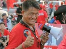 рубашка красного цвета протестующего Стоковое Фото