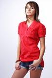 рубашка красного цвета gir Стоковые Изображения RF