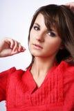 рубашка красного цвета gir Стоковое Изображение RF