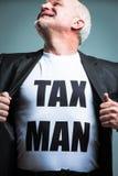 Рубашка отверстия человека с текстом человека налога Стоковые Изображения RF