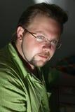 рубашка портрета зеленого человека Стоковое фото RF