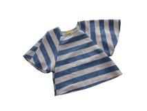 Рубашка прокладки сини & белизны Стоковое Изображение