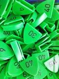 Рубашка размера и номера, зеленый цвет Стоковое фото RF