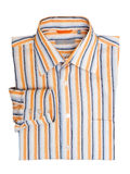 Рубашка сложенных striped людей Стоковые Изображения