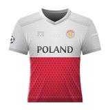 Рубашка футбола в цветах польского флага Стоковые Изображения RF