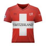 Рубашка футбола в цветах флага швейцарца Стоковая Фотография