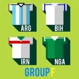 Рубашка футбольной команды Стоковые Фотографии RF
