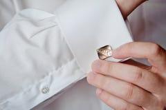 рубашка cufflink Стоковые Фотографии RF