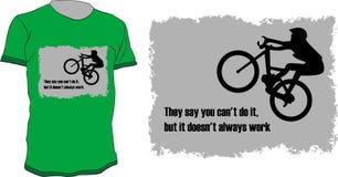 рубашка t велосипедиста Стоковое Изображение