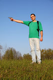рубашка t мальчика зеленая Стоковое Фото
