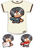 рубашка t мальчика непослушная Стоковое Фото