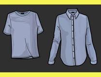 рубашка t плиты способа иллюстрация вектора
