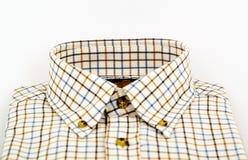 Рубашка Tattersall изолированная на белизне Стоковая Фотография RF