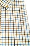 Рубашка Tattersall изолированная на белизне Стоковые Изображения
