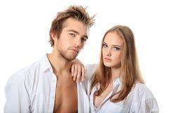 рубашки белые стоковая фотография